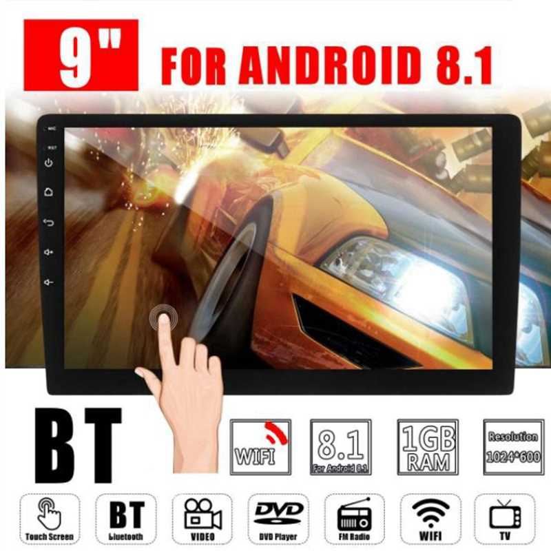 2 Din 9 Inch Android 8.1 Universele Auto Radio Dubbel Din Stereo Gps Navigatie In Dash Video Wifi Usb Bluetooth auto Radio Multime