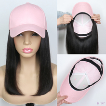 Human-Hair Wigs Bangs Straps Made-Wig Natural-Color Full-Machine Brazilian with Hat 180%Density