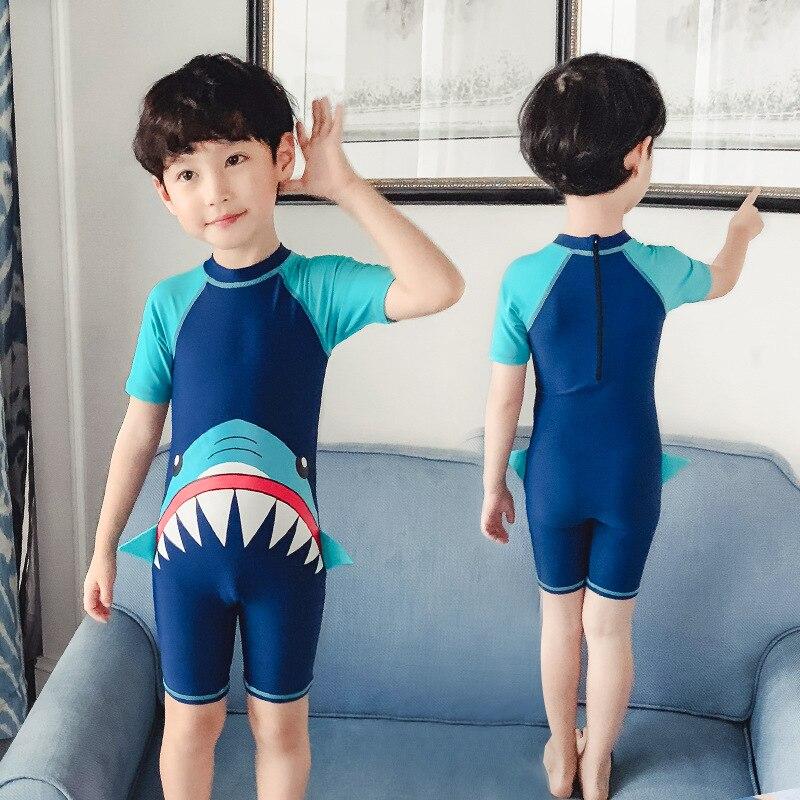 Youyou KID'S Swimwear BOY'S One-piece Big Boy Long Sleeve Beach Sun-resistant One-piece Boy Baby Cute Swimwear