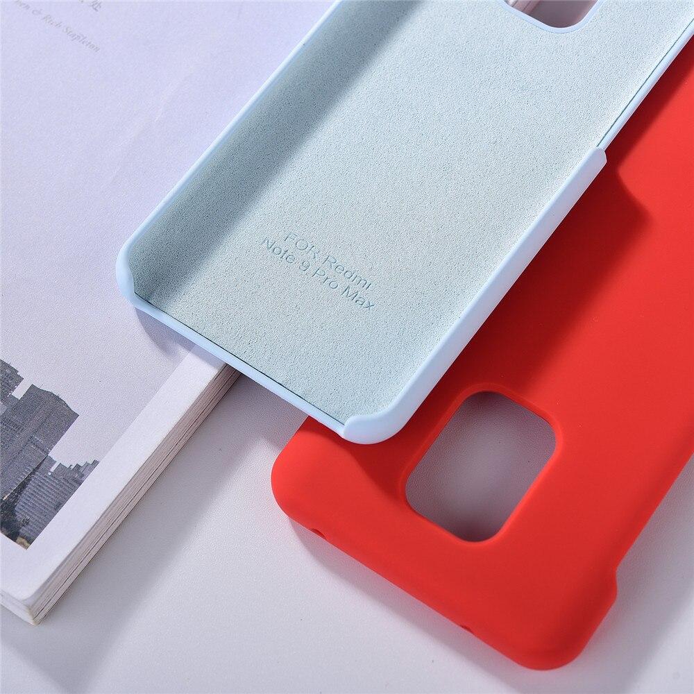 Original Xiaomi Redmi Note 9 Pro Max Liquid Silicone Case Soft TPU MI Mobile Phone Back Cover Case For Redmi Note 9S Note 9 Pro