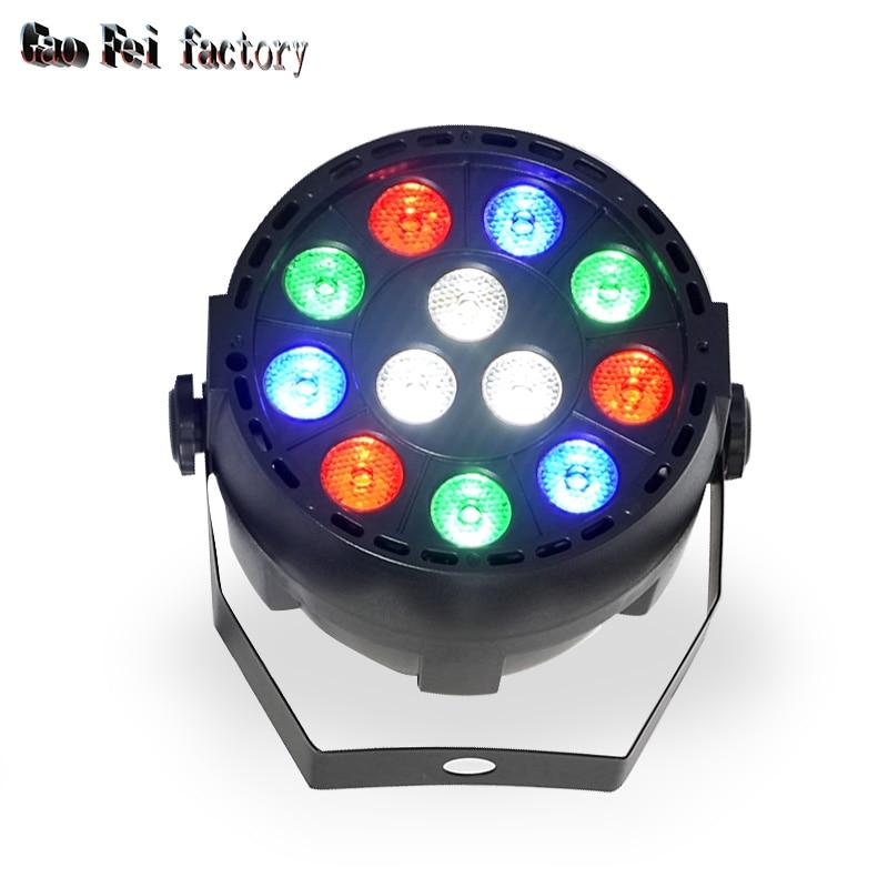 36W RGBW 12 LED Par Light DMX512 Sound Control Colorful LED Stage Light For Music Concert Bar KTV Disco Effect Lighting