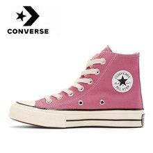 Converse – Chuck Taylor 1970s Hi Top unisexe, chaussures de skateboard pour les loisirs quotidiens, chaussures plates en toile rose