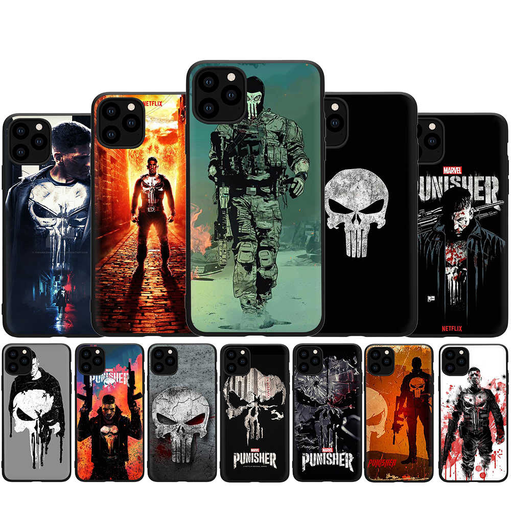 The Punisher soft silicone phone cover case for iphone 5 5s SE 2020 6 6s 7 8 Plus X XR XS 11 pro Max