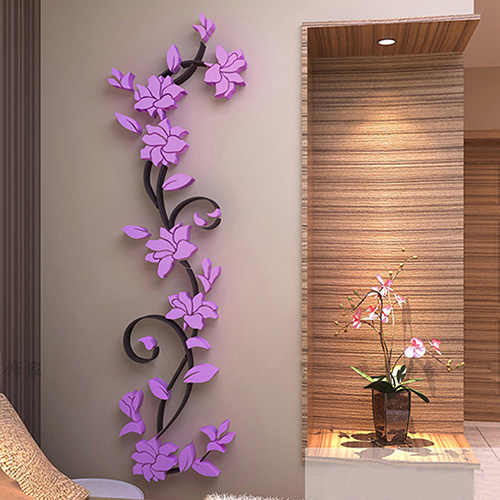 3D Home Kreatif Kulkas Stiker Pola Stiker Dinding Dekorasi Rumah Dinding Seni Dekorasi
