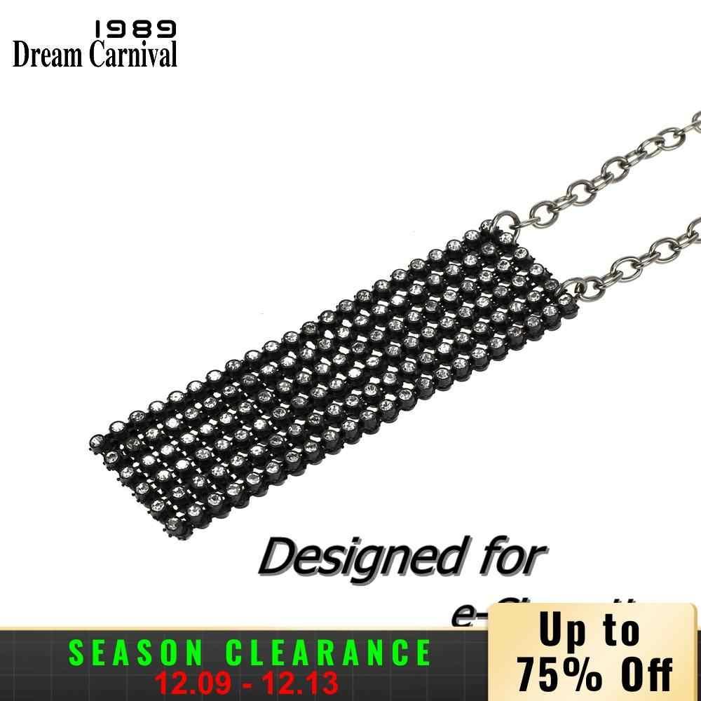 DreamCarnival 1989 новый дизайн женское ожерелье с подвеской со сверкающими кристаллами сетчатый мешочек для Juul аксессуары для электронных сигарет DP0901B
