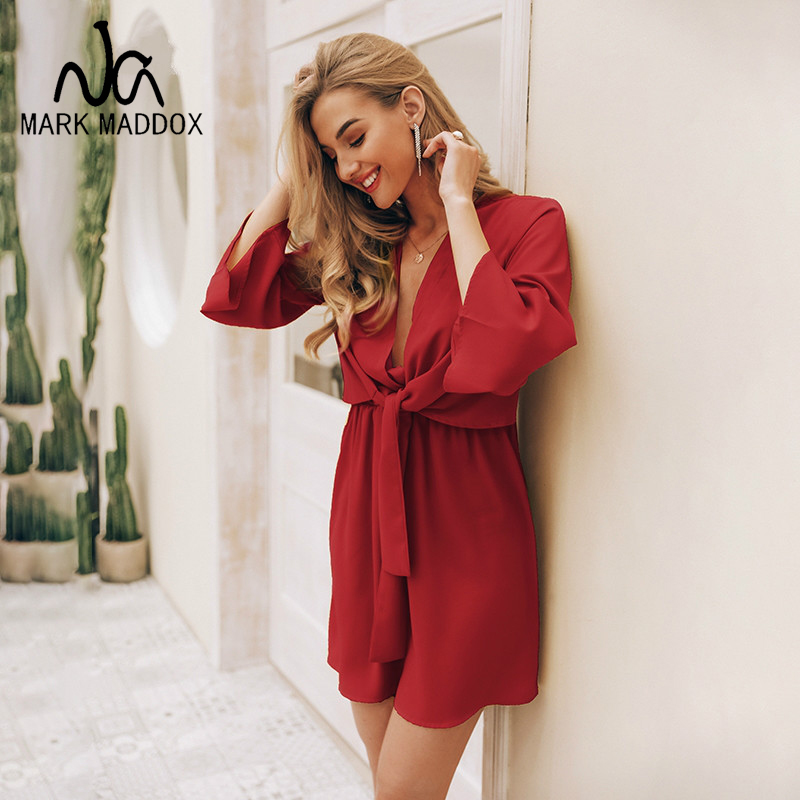 Vintage long sleeve chiffon summer <font><b>dress</b></font> women Black bow office bandage <font><b>dresses</b></font> <font><b>Sexy</b></font> <font><b>red</b></font> female ladies <font><b>short</b></font> <font><b>dress</b></font> festa image