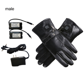 2019 New Motorcycle Cycling Gloves Touch Screen Heated Gloves USB Charging Outdoor Heated Gloves With Independent Heating Chip