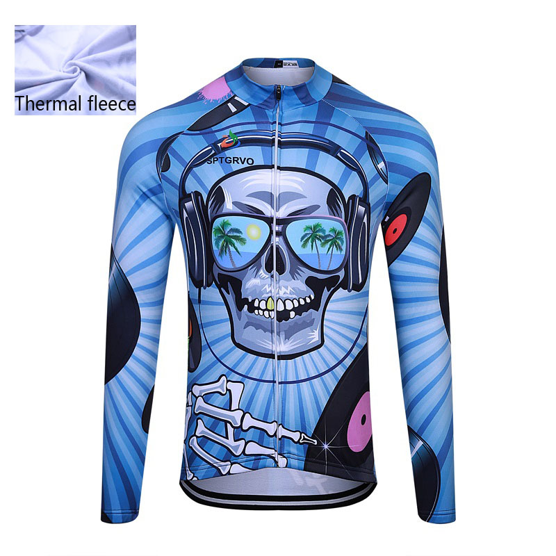 Mtb T-Shirt Skull Cycling SPTGRVO Jersey Bike-Wear Team Fleece Fietskleding Lairschdan-Pro