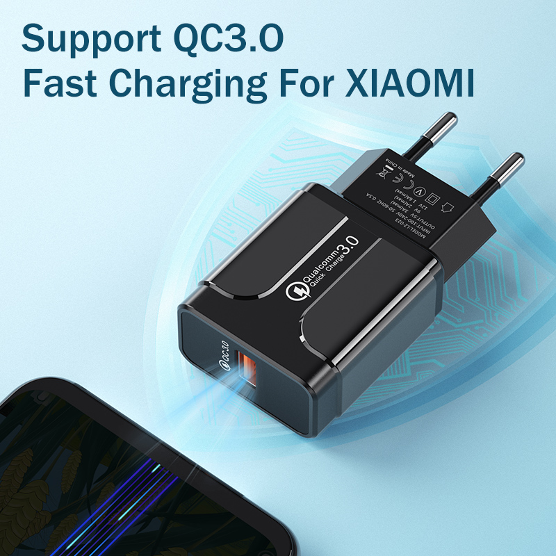 Image 2 - Quick Charge 3.0 18W Qualcomm QC 3.0 4.0 Fast charger USB portable Charging  Mobile Phone Charger For iPhone Samsung Xiaomi-in Mobile Phone Chargers from Cellphones & Telecommunications
