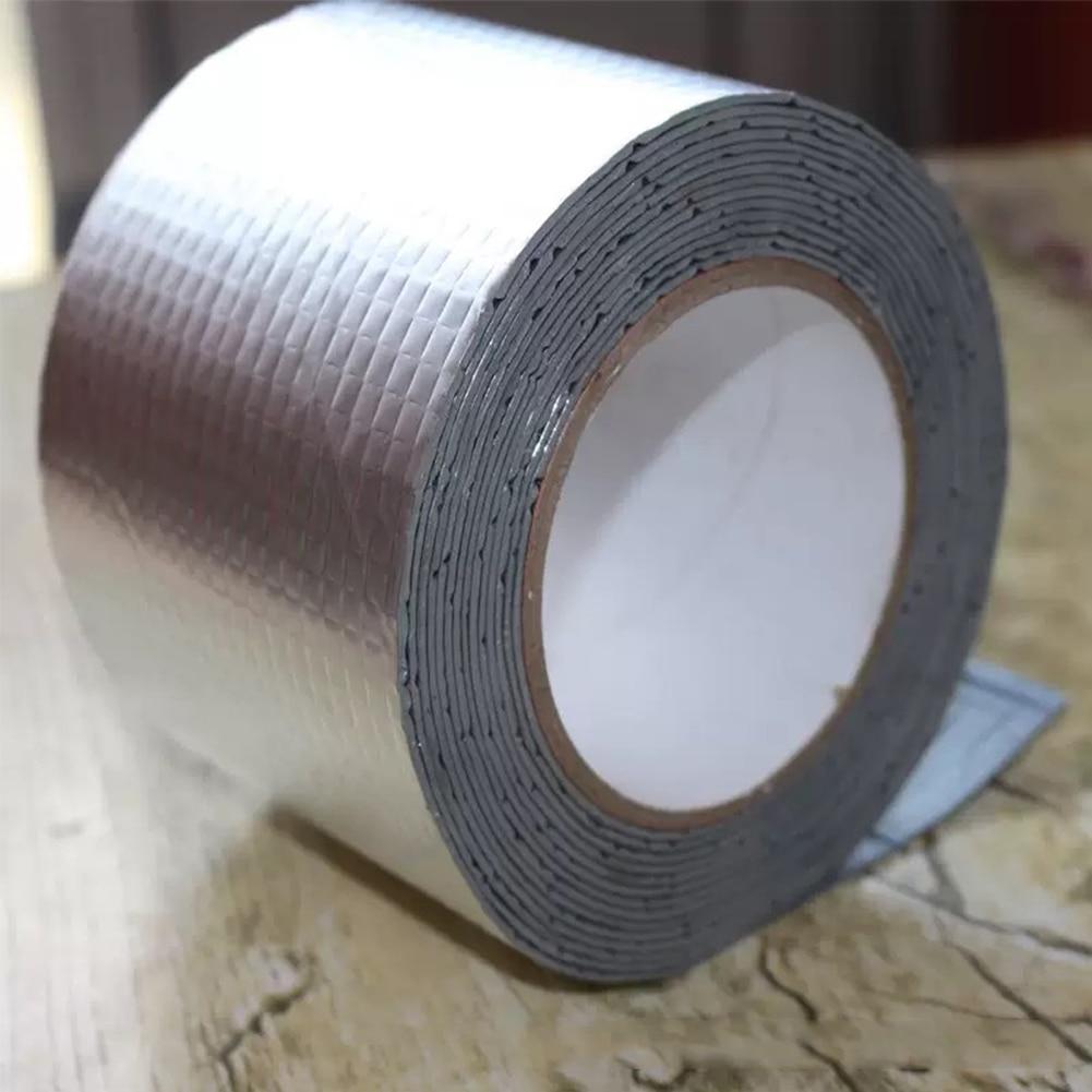 5M Self-adhesive Aluminum Foil Tape Multifunctional Repair Tool Pipe Tent Basin Roof Sealant Adhesive Waterproof Insulation Tape