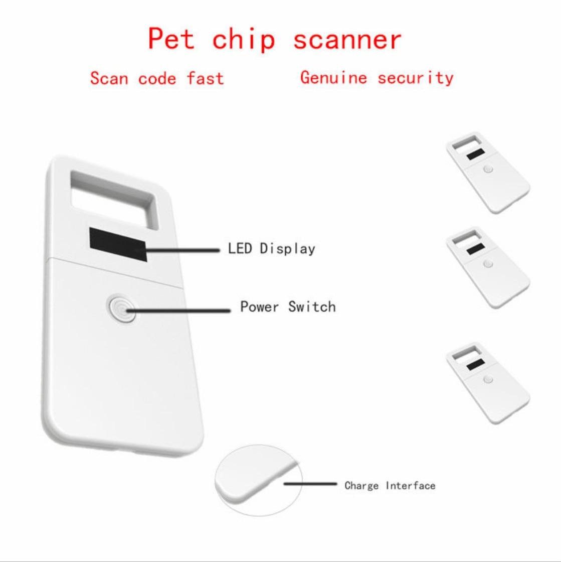 ISO11785/84 FDX-B Pet Microchip Scanner, Animal RFID Tag Reader Dog Reader Low Frequency Handheld RFID Reader