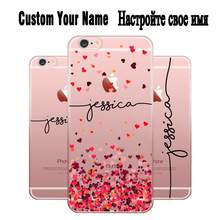 DIY Name Custom Design Print Case Cover For iPhone 11 Pro XS XR Max 4 4s 5c 5 5s SE 6 6s 7 8 Plus X Flower Customized(China)