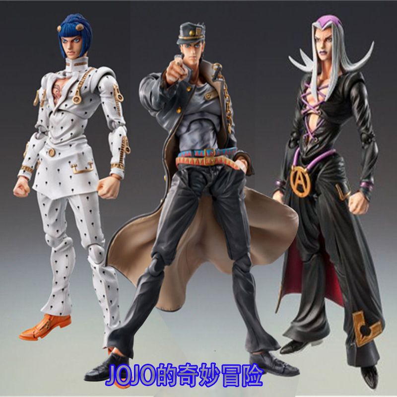 15cm JOJOs Bizarre Adventure Bruno Bucciarati Kujo Jotaro Leone Abbacchio Action Figure Toys Doll Christmas Gift With Box