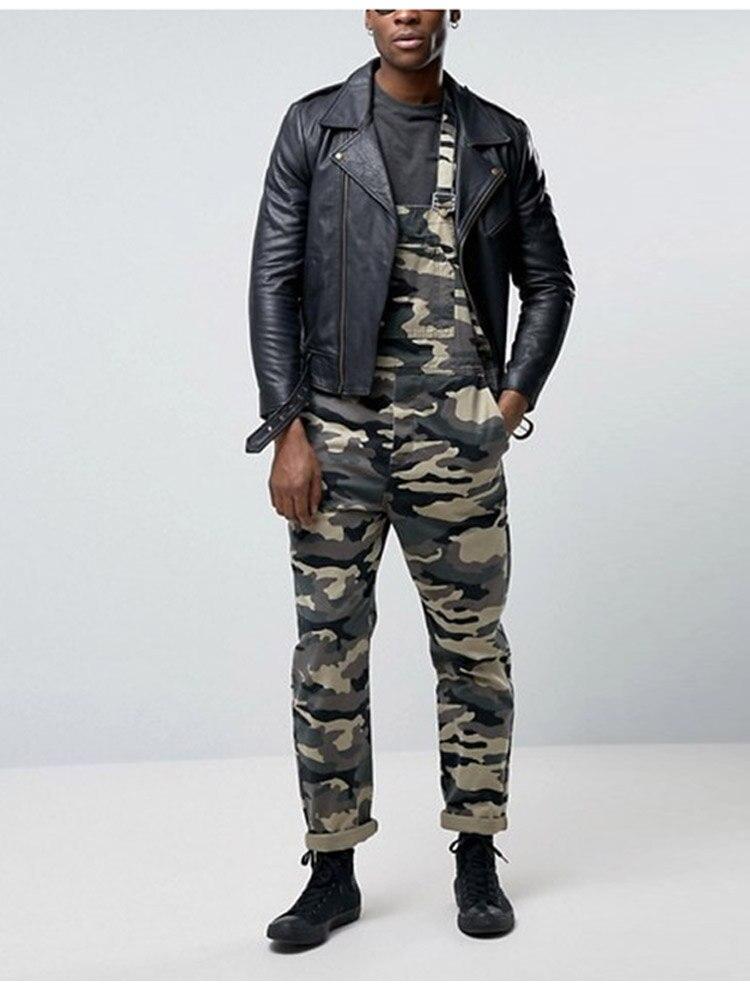 Men's Camouflage Jumpsuit Pants Bib Overalls Tracksuit Camouflage Print Jeans Tracksuit Work Uniform Summer Sleeveless Overalls (2)