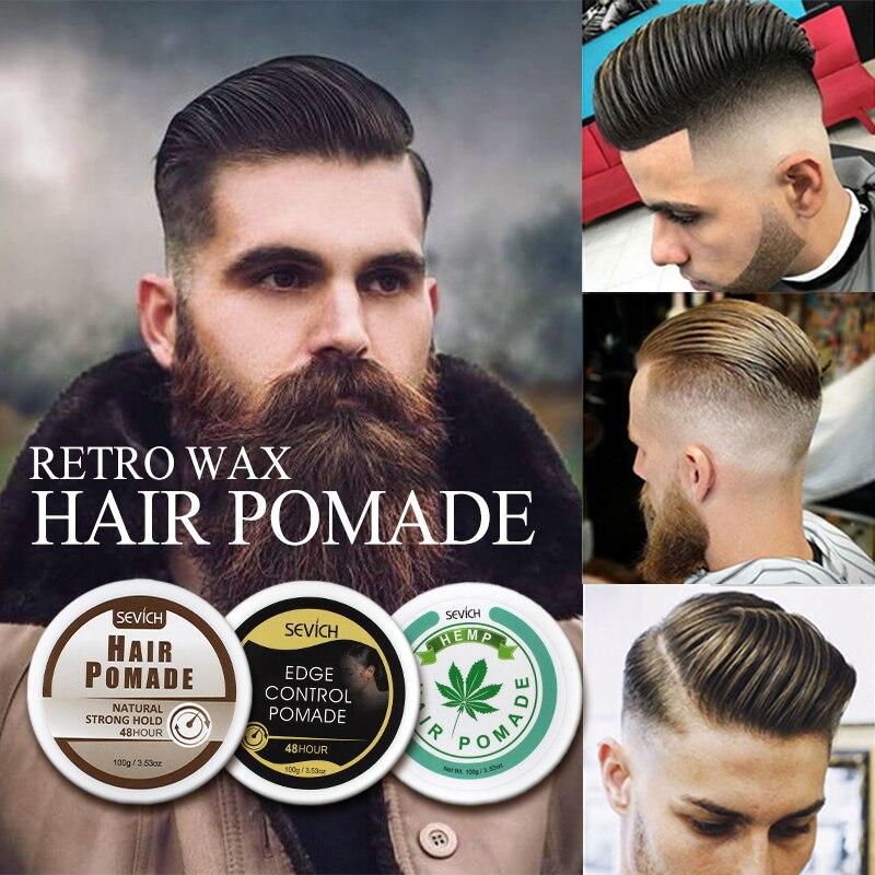 Sevich 100g Strong Hold Hair Gel Oil For Hair Men Long Lasting Dry Hair Hemp Pomade Hair Restoring Cream Wax For Hair Styling