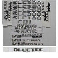 3D 크롬 메르세데스 벤츠 SLC180 SLC200 SLC220 SLC250 SLC280 SLC300 SLC320 SLC350 SLC400 4MATIC CDI BLUETEC 엠블럼