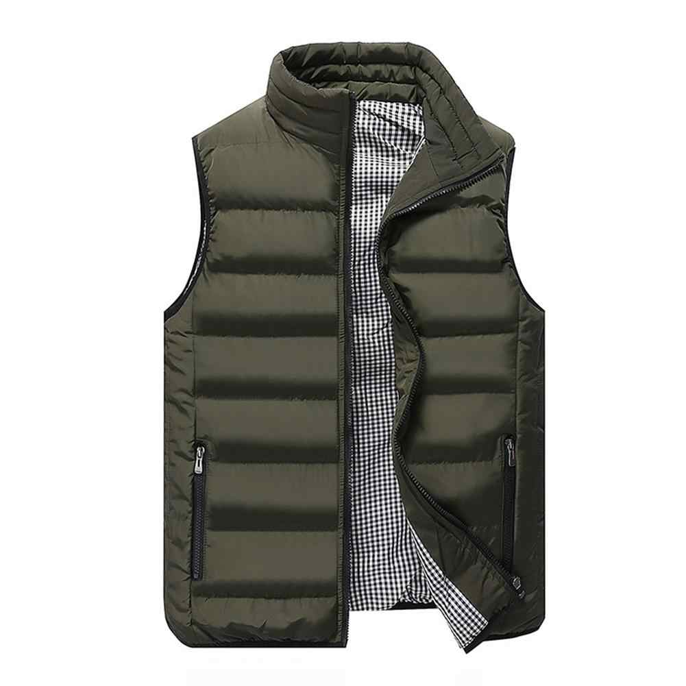 Spring autumn new stylish 2019 male Collar vest  vest plus size warm sleeveless jacket male winter vest casual coats