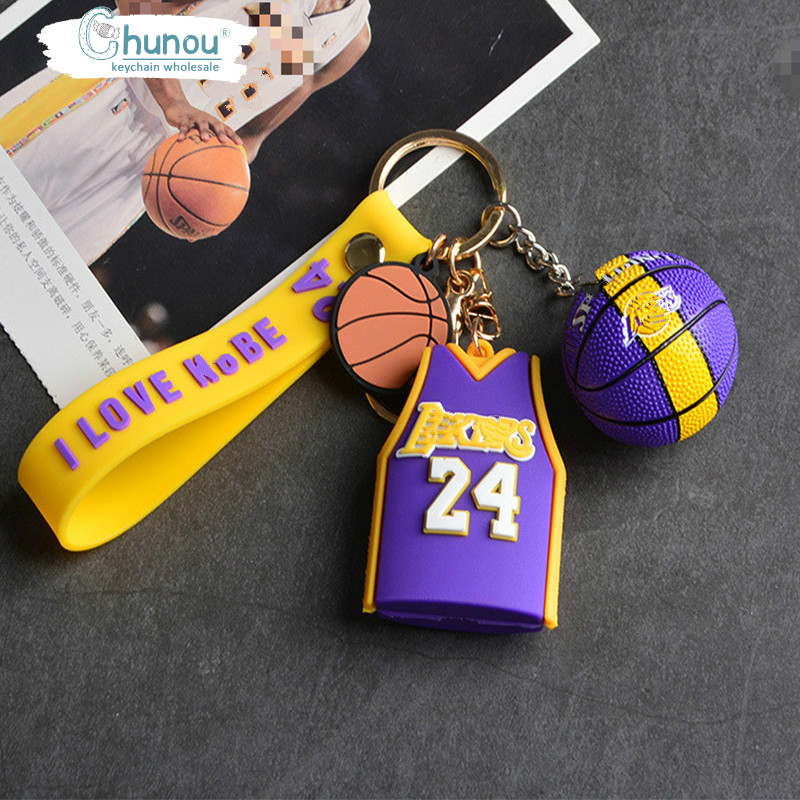 Брелок «сделай сам» с изображением баскетбольного Джерси для мальчиков, рюкзака, автомобиля, брелок с подвеской, подарок на день Святого Ва...