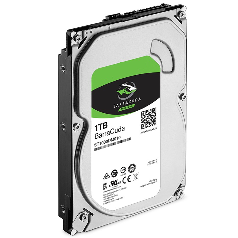 """New HDD For Seagate Brand BarraCuda 1TB 3.5"""" SATA 6 Gb/s 64MB 7200RPM For Internal Hard Disk For DesktopHDD For ST1000DM010 3"""