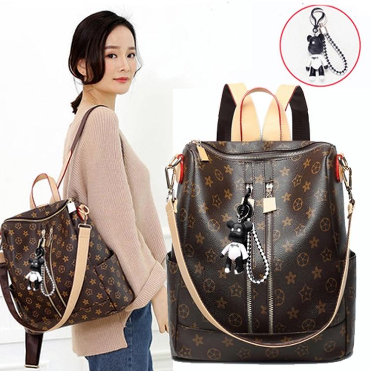 School Backpack Mochila Travel Bookbag Women Bags Shoulder Ladies PU Mujer