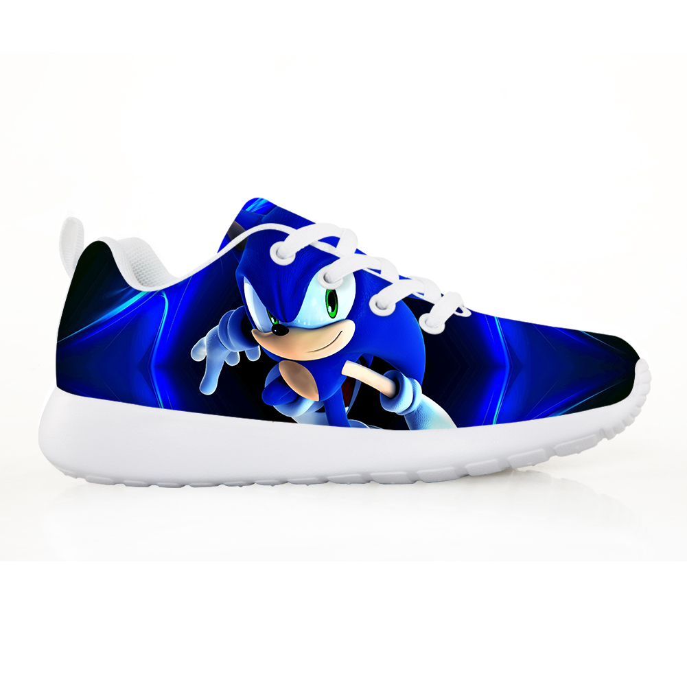 NOISYDESIGNS Fashion Shoes For Kids Lightweight Mesh Children Sneakers Girls Boys Sonic The Hedgehog Printed Sports Running Shoe