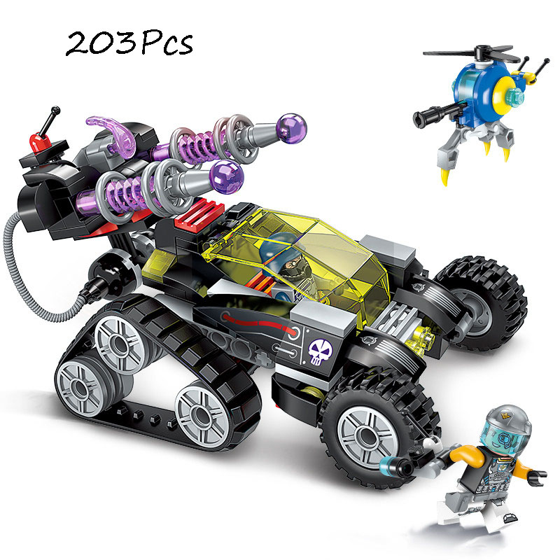 Models Building Toy 2708 203Pcs Military High-Tech Magnetic Sniper Vehicle Building Blocks Compatible with lego Toys & Hobbies