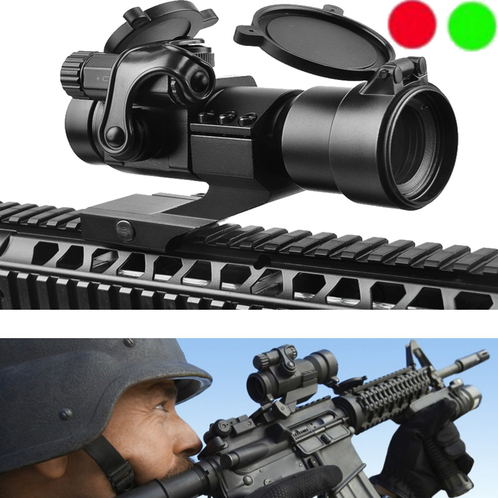 M2 Hunting Riflescope Reflex Red Green Dot Scope Aiming Sight Laser Gun Sighting Telescope 20mm Rail Mounts For Thermal Imager