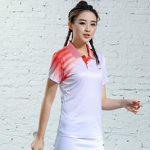 V-образная горловина, короткий рукав, форма для настольного тенниса, один топ для мужчин и женщин, летняя одежда для учеников средней школы, студентов средней школы - Цвет: B2622female3