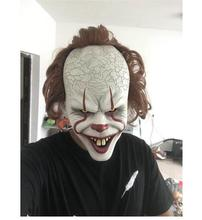купить Stephen King's It Mask Pennywise Horror Clown Joker Mask Clown Mask Halloween Cosplay Costume Props дешево
