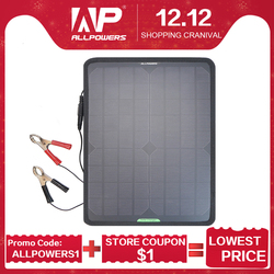 Cargador de coche del Panel Solar de allpower 10W 12V cargador de batería Solar del coche para la batería de 12V de la motocicleta del barco del vehículo
