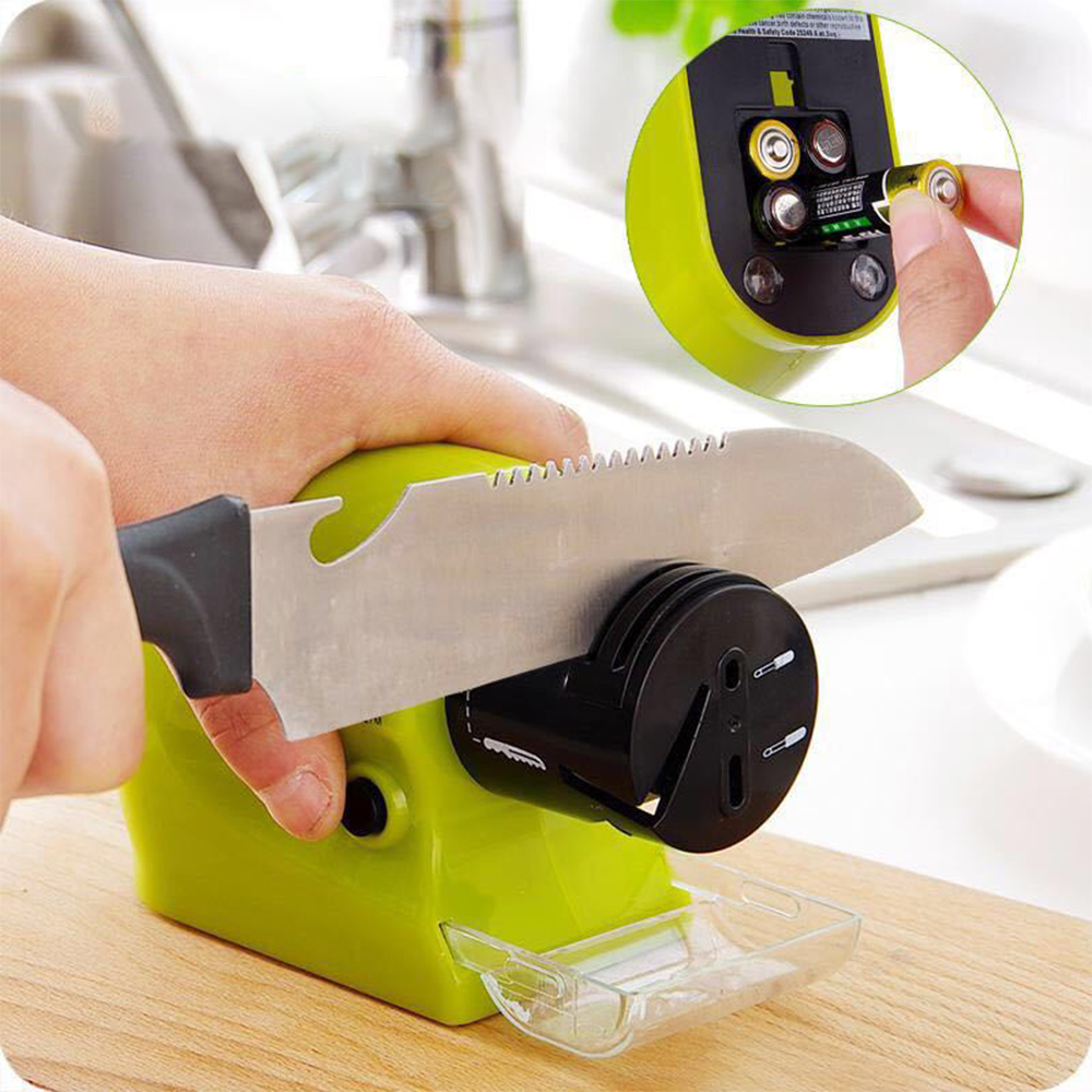 Professional Electric Knife Sharpener With Four Suction Cup Suitable For All Kind Of Kitchen Knives