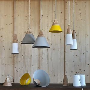 Image 3 - الشمال مجتمعة بار الخشب الحقيقي قلادة أضواء متعدد الألوان مصباح ألمنيوم نجفة مصابيح لغرفة الطعام تركيبة إضاءة المنزل