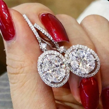 Luxury Female Crystal Drop Dangle Earrings Fashion  Gold Shiny Bling Micro Pave CZ Rhinestone Statement Earring Z3M567 цена 2017