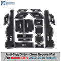 Tapis anti-dérapant pour Honda CR-V CRV 2012 2013 2014 4th Gen lifting CR V porte Slot Coaster Anti-sale porte rainure tapis intérieur de voiture