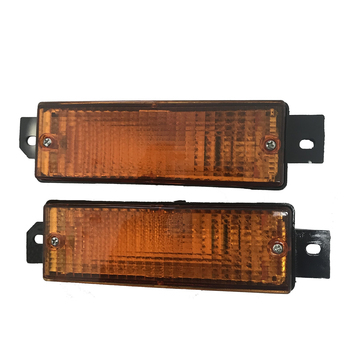 LH&RH For BMW E30 M40 Reflector Indicator Blinker Front Bumper Corner Signal Light lamp Replacement 1983-1991 image