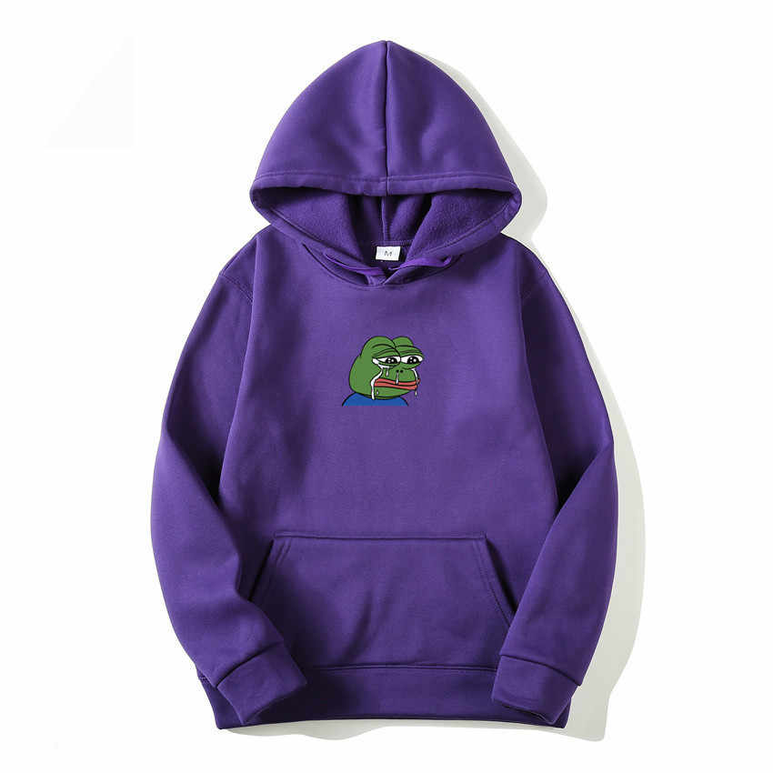 Traurig Frosch Druck Hoodies Art Und Weise Frauen/Männer Casual Hip Hop Japan Harajuku Sweatshirt Winter Fleece Warm Gehalten Lustige Pullover hoody