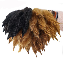 Youngther 8 Inch Afro Short Crochet Marley Braids Hair Synthetic Soft Twist Ombre Braiding Hair Extensions For Woman cheap High Temperature Fiber CN(Origin) 14strands pack