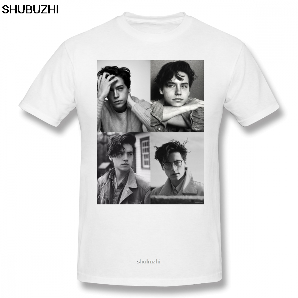 Cole Sprouse T Shirt Cole Sprouse Collage B W T-Shirt Cotton Tee Shirt Classic Printed Fun Plus size Short-Sleeve Tshirt sbz8383