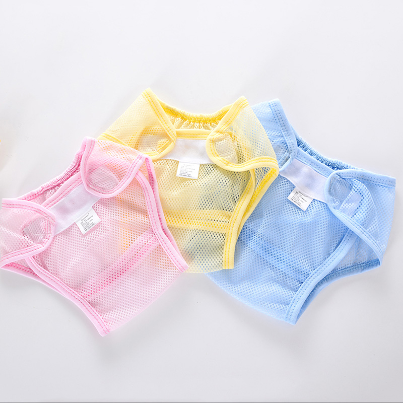 Baby Nappies Reusable Washable Cloth Mesh Diaper Breathable Nappy Cover Waterproof Newborn Baby Traning Panties Diapers Pocket
