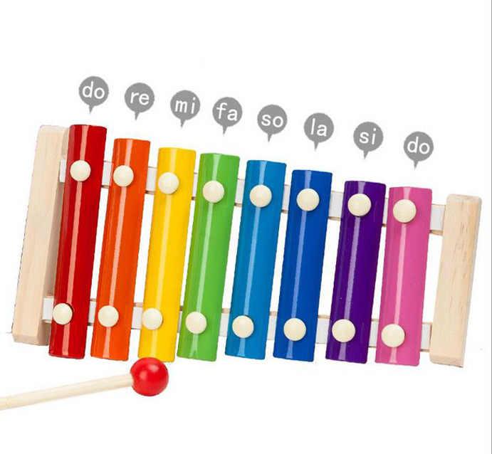 Instrumento Musical para bebés juguete de madera xilófono niños musicales divertidos juguetes para bebés niñas juguetes educativos regalos bebé Xilófono