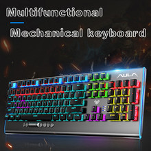 2020 Baru Aual F2099 104-Key Definisi Makro Gaming Laptop Desktop Multimedia Rotary Tombol Keyboard Gaming Mechanical Keyboard(China)