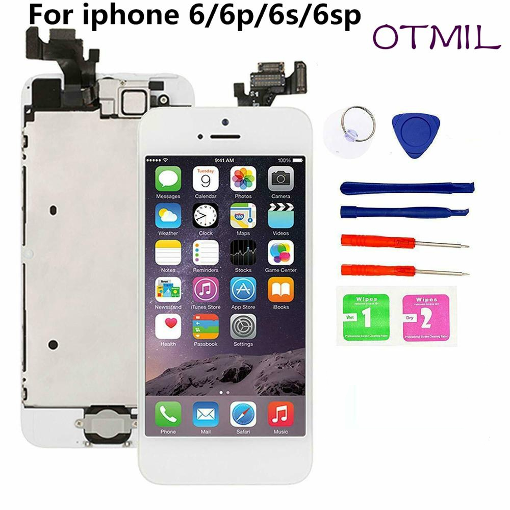 Full assembly LCD screen for iPhone 5 6 6s 6P 6SP LCD Display Touch Screen Digitizer full Replacement pantalla Button Camera LCD image