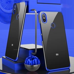 Image 1 - Chapeamento de silicone caso do telefone para redmi note 5 5a 6 pro plus prime y1 y2 s2 6pro 5plus macio claro ultrafino proteger gel volta capa