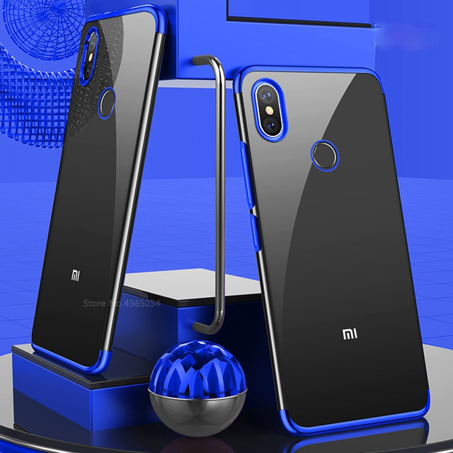 Chapeamento de silicone caso do telefone para redmi note 5 5a 6 pro plus prime y1 y2 s2 6pro 5plus macio claro ultrafino proteger gel volta capa