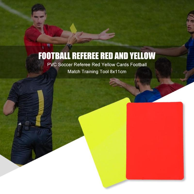 Hot Sale Red Card Classic Delicate Texture PVC Soccer Referee Red Yellow Cards Football Match Training Referee Tool 8x11cm
