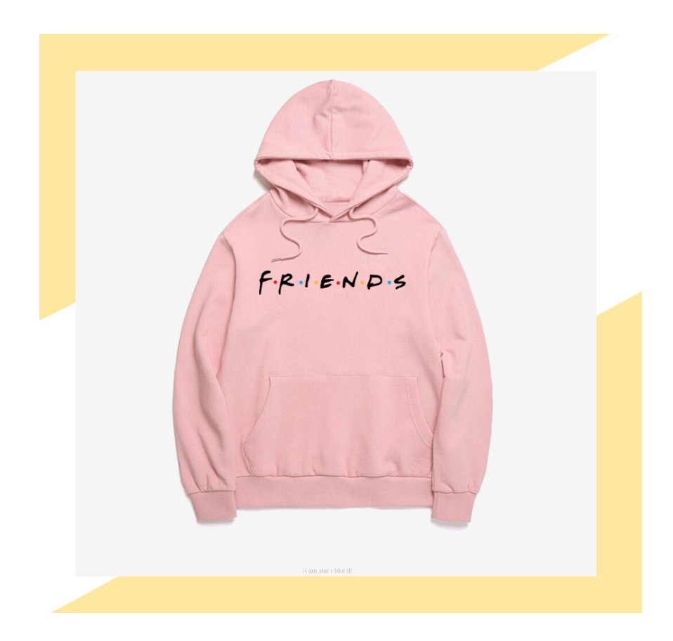 Women Friends Hoodies Harajuku Letters Print Pocket Warm Thicken Pullovers Hip Hop Loose Solid Female Sweatshirts 9