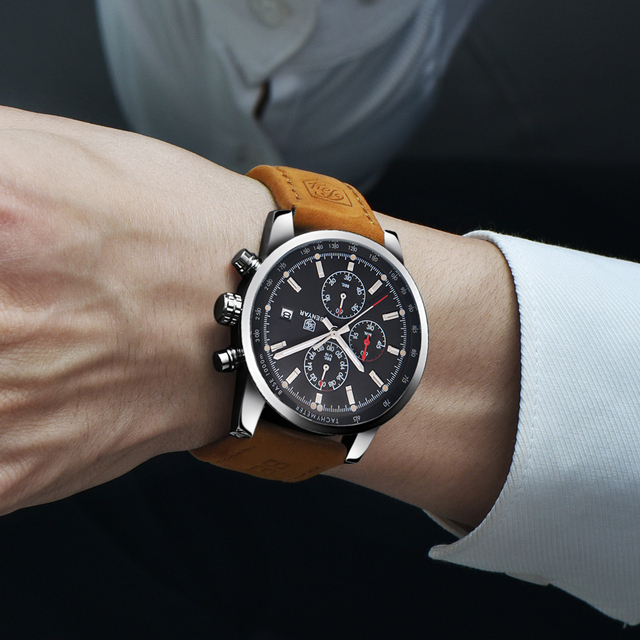 BENYAR Fashion Chronograph Sport Mens Watches Top Brand Luxury Quartz Watch Reloj Hombre saat Clock Male hour relogio Masculino 1