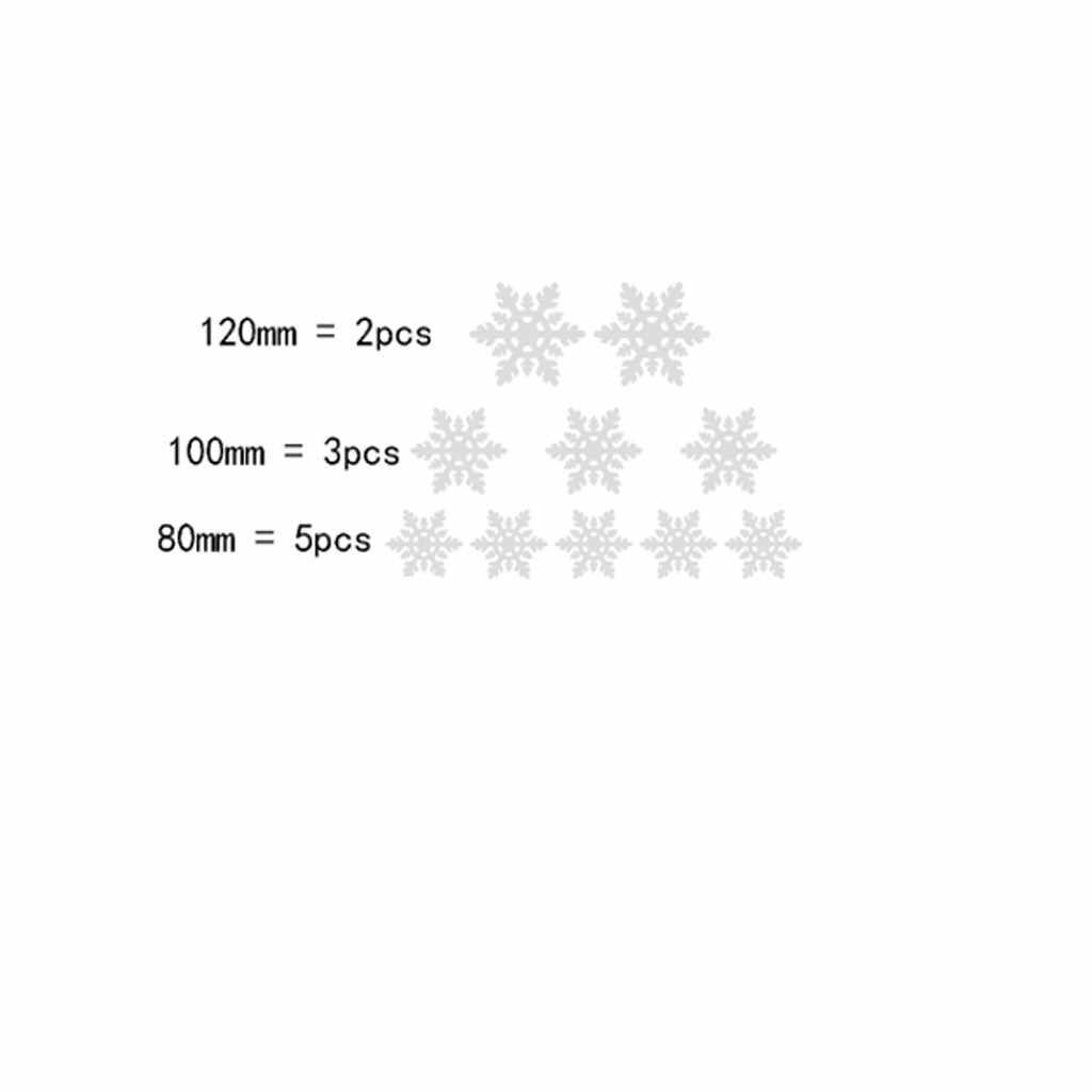 Mode Kerst Spiegel Sticker Muur Sticker Goud/Zilveren Sneeuwvlok Home Decoratie Spiegel Sticker зеркальные наклейки Z5