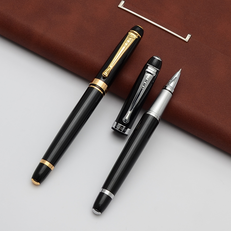 Baoer Business stylo Gel 0.5mm noir/bleu encre haute qualité stylo à bille en métal pour étudiant cadeau stylo bureau papeterie fournitures