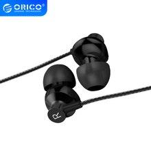 ORICO słuchawki douszne metalowe słuchawki douszne dźwięk wysokiej jakości muzyka 3,5mm słuchawki sportowe dla iPhone Xr Xiaomi z mikrofonem fone devido